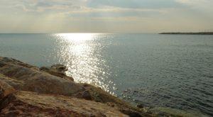 Italien-Meer-Sonnenuntergang